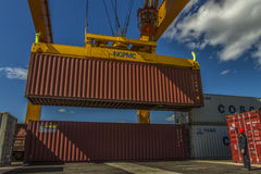 Chinese port railway facelift container Royalty Free Stock Photos