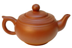 Chinese pottery (clay) teapot. Stock Images