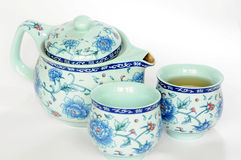 Chinese pottery teaset Stock Image