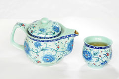 Chinese pottery teaset Royalty Free Stock Images