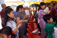 Chinese pray Stock Photo
