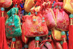 Chinese Prayer Ribbons Stock Images
