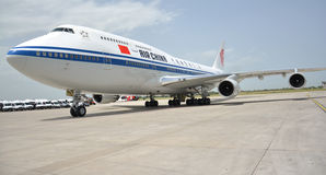 Chinese President Xi Jinping's plane landed at Belgrade's Nikola Tesla International airport Stock Image