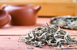 Chinese pressed white tea, silver needle Royalty Free Stock Images