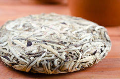 Chinese pressed white tea, silver needle Royalty Free Stock Image