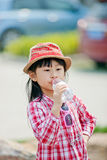 Chinese pretty girl. A chinese girl in the park,wuxi ,china Royalty Free Stock Photo