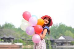 Chinese pretty girl Stock Photography