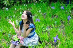 Chinese pretty girl Royalty Free Stock Image