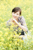 Chinese   girl  and  Royalty Free Stock Photography