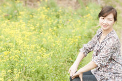 Chinese  happy  girl Royalty Free Stock Photography