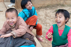 Chinese primary school students Royalty Free Stock Photos