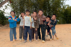 Chinese primary school students Stock Images