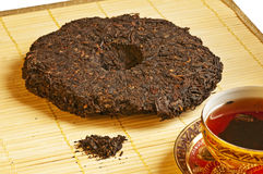 Chinese Pu-Erh tea. Beverage and medicine Royalty Free Stock Photography