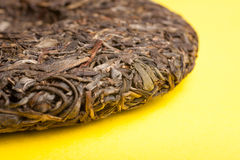 Chinese Puer cake raw Stock Images