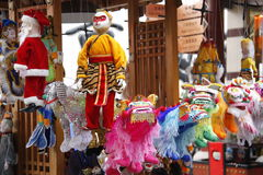 Chinese puppet. Chinese people is celebrating the Lantern Festival 。These are some ornaments for the festival season。It means peace and luck royalty free stock images