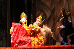 Chinese Puppet. The Chinese Puppet Show Troupe Royalty Free Stock Photography