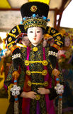 Chinese puppet. Rare luxury puppet,china ancient costume girl with amazing attractive dress and hat Stock Photos