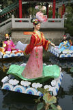 Chinese puppets on water Royalty Free Stock Photo