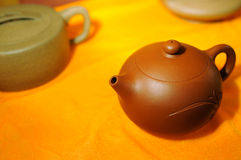 Chinese purple clay teapots Stock Images