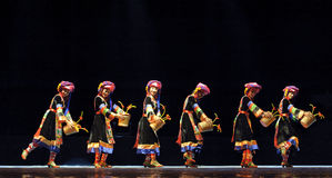 Chinese Qiang ethnic dance Royalty Free Stock Photography
