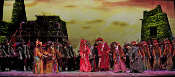 Chinese Qiang ethnic dance Stock Photo