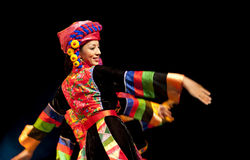 Chinese Qiang ethnic dancer Stock Images