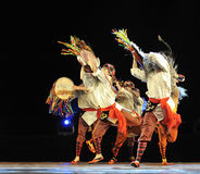 Chinese Qiang ethnic dancers Stock Photography