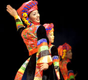 Chinese Qiang ethnic dancing girl Royalty Free Stock Photo