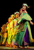 Chinese Qiang ethnic dancing girls Royalty Free Stock Image