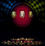 Chinese Qiang national dancers Stock Images