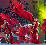 Chinese Qiang national dancers Royalty Free Stock Photography