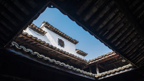 Chinese Qing Dynasty Architecture. The Huang Family Courtyard is a Qing Dynasty Han style residential building located in Songyang County, Zhejiang Province stock photos