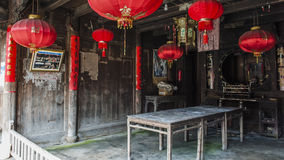 Chinese Qing Dynasty Wood Carving Architecture Stock Foto's
