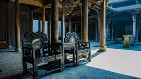 Chinese Qing Dynasty Wood Carving Architecture. NnnnThe Huang Family Courtyard is a Qing Dynasty Han style residential building located in Songyang County Stock Images