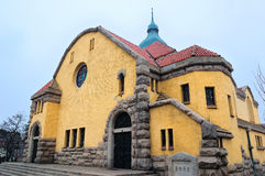 Chinese QINGDAO Church. A chinese church in QINGDAO city.it was builted at 1860s.it was builted by Germany Stock Photography