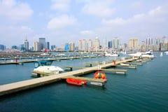 Chinese Qingdao yacht wharf Royalty Free Stock Image