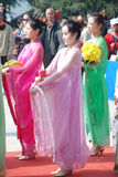 Chinese Qingming Festival public memorial ceremony Stock Images