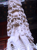 Chinese Qufu city cultural connotation-The stone pillars of the dragon design Royalty Free Stock Images