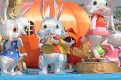 Chinese rabbit lantern Stock Images
