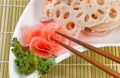 Chinese Radish served on White Dish Royalty Free Stock Photos