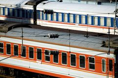 Chinese railway - cars Royalty Free Stock Photos
