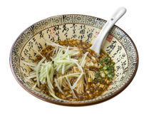 Chinese Ramen noodle bowl with mince pork Royalty Free Stock Images