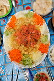 Chinese raw fish salad Royalty Free Stock Image