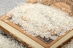 Chinese Raw grain white rice grains Royalty Free Stock Photos