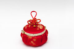 Chinese red bag. On whtie background Stock Photography