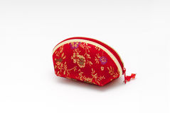 Chinese red bag. On whtie background Stock Images