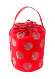 Chinese red bag on background Royalty Free Stock Image