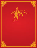 Chinese red bamboo flier design Royalty Free Stock Images