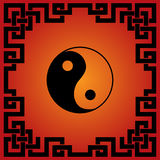 Chinese red and black tao background Royalty Free Stock Image