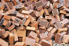 Chinese Red Bricks Stock Photo